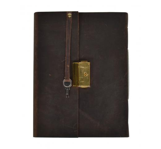 Handmade Genuine Vintage  Leather Journal New Clasp Brass Lock Journal Diary
